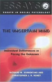 Cover of: The uncertain mind