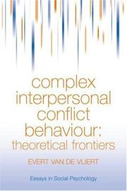 Cover of: Complex interpersonal conflict behaviour