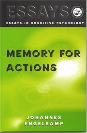 Cover of: Memory for actions