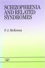 Cover of: Schizophrenia and related syndromes
