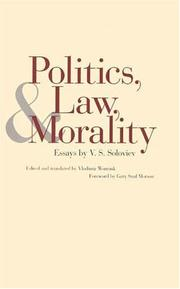 Cover of: Politics, Law, and Morality | Vladimir Soloviev