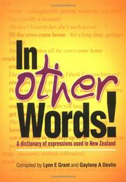 Cover of: In Other Words! A dictionary of expressions used in New Zealand |