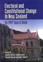 Cover of: Electoral and Constitutional Change In New Zealand |