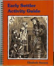 Cover of: Early Settler Activity Guide