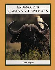 Cover of: Endangered savannah animals