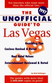 Cover of: The Unofficial Guide to Las Vegas 1997 (Unofficial Guides)