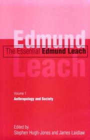 Cover of: The Essential Edmund Leach: Volume 1