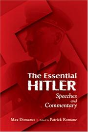 Cover of: The Essential Hitler