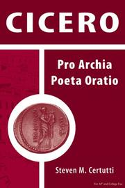 Cover of: Cicero