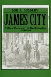 Cover of: James City, a Black community in North Carolina, 1863-1900