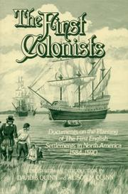 Cover of: The First colonists