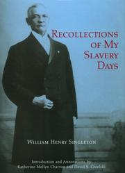 Cover of: Recollections of my slavery days