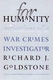 For humanity by Richard Goldstone
