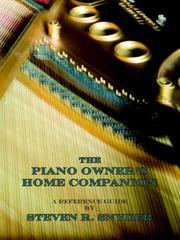 Cover of: The Piano Owner's Home Companion