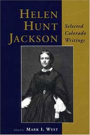Cover of: Helen Hunt Jackson: selected Colorado writings