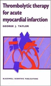 Cover of: Thrombolytic therapy for acute myocardial infarction