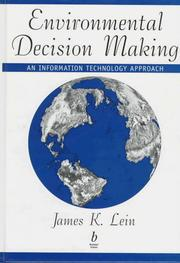 Cover of: Environmental decision making