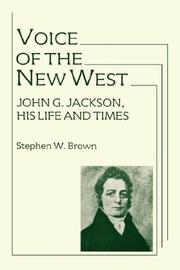 Cover of: Voice of the new west | Stephen Wayne Brown