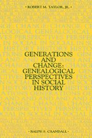Cover of: Generations and Change | Robert Taylor