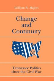 Cover of: Change and continuity | William R. Majors