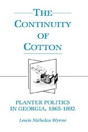 Cover of: The continuity of cotton