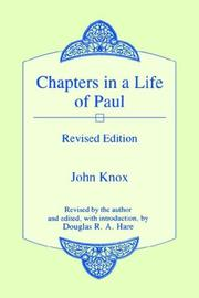 Cover of: Chapters in a Life of Paul | John Knox