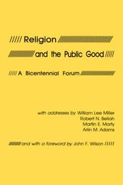 Cover of: Religion and the public good |