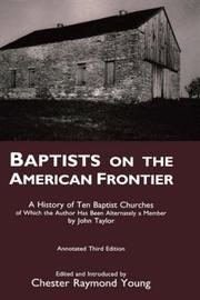 Cover of: Baptists on the American frontier | Taylor, John