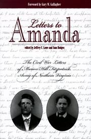 Cover of: Letters to Amanda