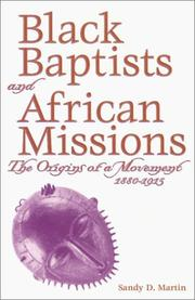 Cover of: Black Baptists and African missions