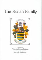 Cover of: The Kenan family and some allied families