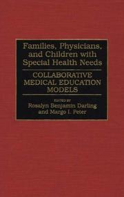 Cover of: Families, Physicians, and Children with Special Health Needs |