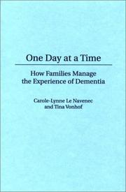 Cover of: One day at a time