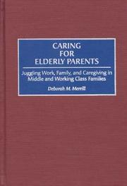 Cover of: Caring for elderly parents