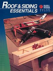 Cover of: Roof & siding essentials. |