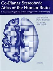 Cover of: Co-planar stereotaxic atlas of the human brain |