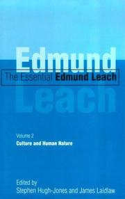 Cover of: The Essential Edmund Leach: Volume 2