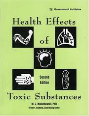 Health effects of toxic substances by M. J. Malachowski