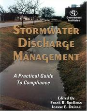 Cover of: Stormwater discharge management |