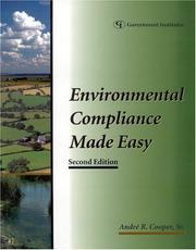 Cover of: Environmental compliance made easy | AndreМЃ R. Cooper