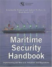 Cover of: Maritime Security Handbook | Jonathan K. Waldron