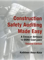 Cover of: Construction safety auditing made easy