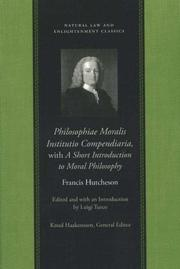 Philosophiae moralis institutio compendiaria by Francis Hutcheson