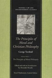 Cover of: The Principles Of Moral And Christian Philosophy: The Principles of Moral Philosophy