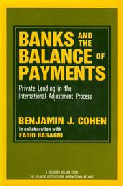 Cover of: Banks and the Balance of Payments | Fabio Basagni