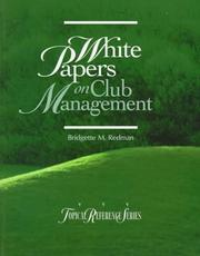 Cover of: White papers on club management