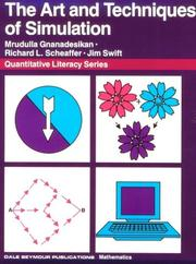Cover of: Art and Techniques of Simulation (Quantitative Literacy)