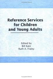 Cover of: Reference services for children and young adults |