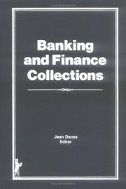 Cover of: Banking and finance collections |