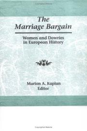 Cover of: The Marriage bargain |